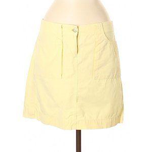 J Crew Pale Yellow Chino Skirt